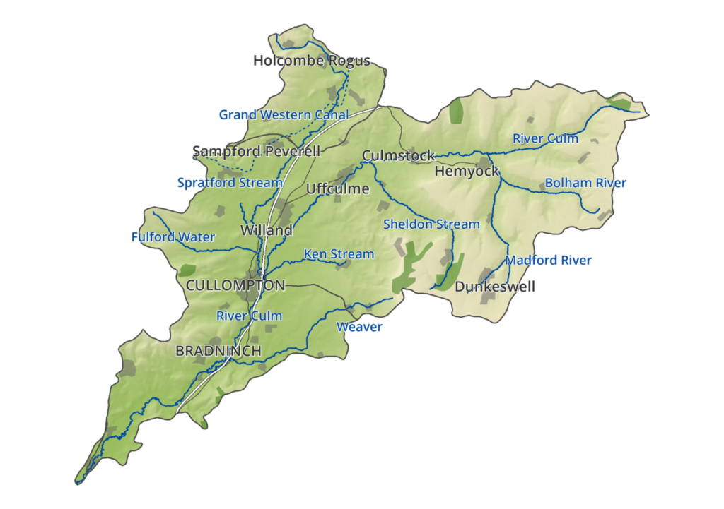 A map of the Culm catchment